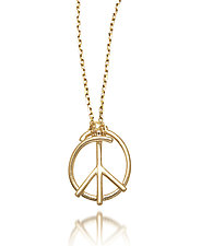 Peace Doodle Pendant by Dana Melnick (Gold Necklace)