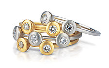 Multi-Cono Ring by Dana Melnick (Gold & Stone Ring)