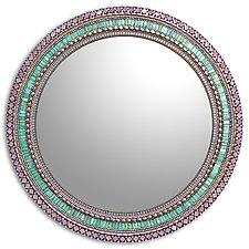 Seafoam Purple by Angie Heinrich (Mosaic Mirror)