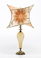 Megan by Susan Kinzig and Caryn Kinzig (Mixed-Media Table Lamp)