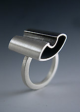Square Ring with Dip by Theresa Carson (Silver Ring)