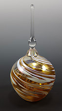 Round Perfume Bottle by Mark Rosenbaum (Art Glass Perfume Bottle)