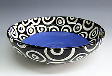 Blue Round Bowl by Matthew A. Yanchuk (Ceramic Bowl)