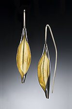 Open Pod Earrings by Deborrah Daher (Bimetal Earrings)