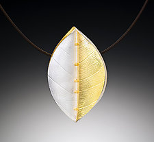 Simple Leaf Pendant by Christine MacKellar (Bimetal Necklace)