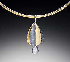 Leaf Drop Pendant by Christine MacKellar (Bimetal Necklace)