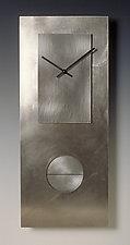 Steel on Steel 24 Pendulum Clock by Leonie  Lacouette (Metal Clock)
