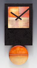 Black Tie Pendulum Clock with Copper by Leonie  Lacouette (Metal & Wood Clock)