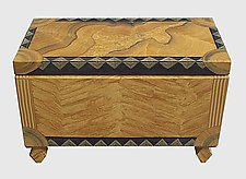 Renaissance Trunk by Ingela Noren and Daniel  Grant (Hand-Painted Trunk)