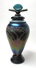 Copper Ruby Lidded Vessel by Ken Hanson and Ingrid Hanson (Art Glass Vessel)