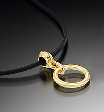 Charm Pendant on Cord by Ilene Schwartz (Gold Pendant)