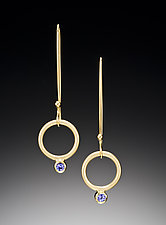 Hanging Charm Earrings by Ilene Schwartz (Gold & Stone Earrings)