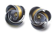 Clematis Earrings by Jayne Redman (Gold & Silver Earrings)