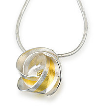 Clematis Pendant by Jayne Redman (Gold & Silver Necklace)