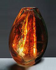 Window Flat by Randi Solin (Art Glass Vase)
