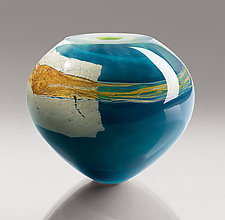 Mykannos by Randi Solin (Art Glass Vase)
