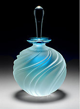 Carved Swirl by Mary Angus (Art Glass Perfume Bottle)