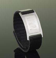 Narrow Wrist Wrap by Karen Klinefelter (Silver & Leather Bracelet)