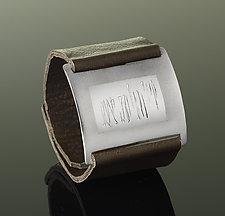 Wheat Wrist Wrap by Karen Klinefelter (Silver & Leather Bracelet)