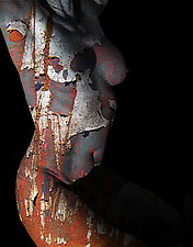 Nude In Rust by Michael Williams (Color Photograph)