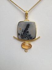 Fern Pendant by Ilene Schwartz (Gold & Stone Necklace)