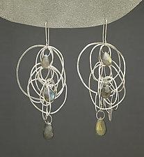 Drawing Earrings by Heather Guidero (Silver & Stone Earrings)