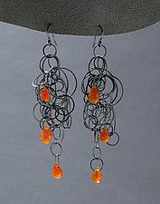 Silver Tangle Earrings by Heather Guidero (Silver & Stone Earrings)