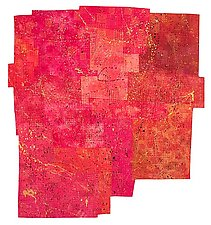 Symphony In Red by Catherine Kleeman (Art Quilt)