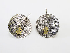 Large Coin Earrings by Martha Sullivan (Silver and Bi-metal Earrings)