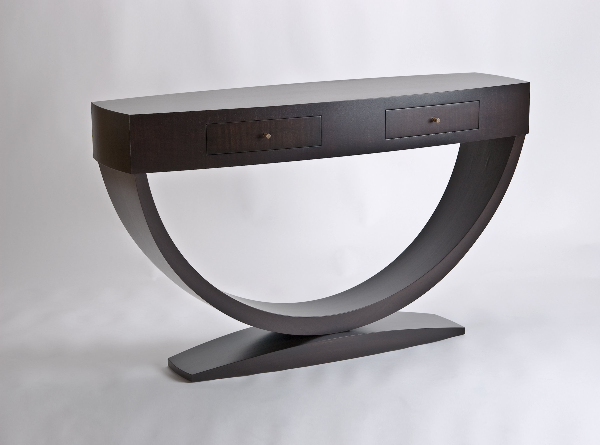 Black Hall Console Table Arc Hall Tableenrico Konig (wood Table) | Artful  Home