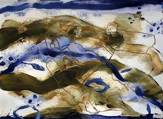Sea and Sticks V by Stephen Yates (Acrylic Painting)