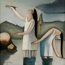 Las Bañistas (The Bathers) by Armando  Adrian-Lopez (Giclée Print)