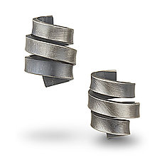 Short Wrap Earrings by Rina S. Young (Silver Earrings)
