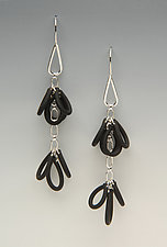 Double Trio Earrings by Lonna Keller (Silver & Neoprene Earrings)