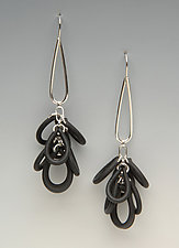 Shag Earrings by Lonna Keller (Silver & Neoprene Earrings)