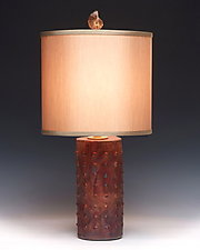 Full Moon Lamp by Mary Obodzinski (Ceramic Table Lamp)