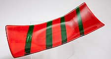 Red Boat Art Glass Vessel by Varda Avnisan (Art Glass Vessel)