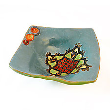 Sally's Pattern Dish by Laurie Pollpeter Eskenazi (Ceramic Plate)