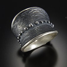 Bumpy Belted Ring by Dahlia Kanner (Silver Ring)