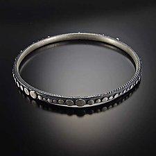 Disco Bangle by Dahlia Kanner (Silver Bracelet)