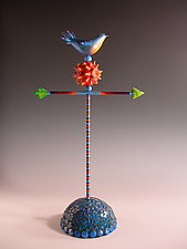 Playing With the WInd #8 by Patty Carmody Smith (Mixed-Media Sculpture)