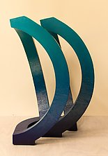 Blue Wave by John Wilbar (Wood Sculpture)