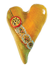 Cori's Button by Laurie Pollpeter Eskenazi (Ceramic Wall Sculpture)