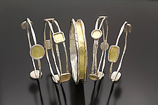 Charming Stacking Bangles by Sana  Doumet (Gold & Silver Bracelet)