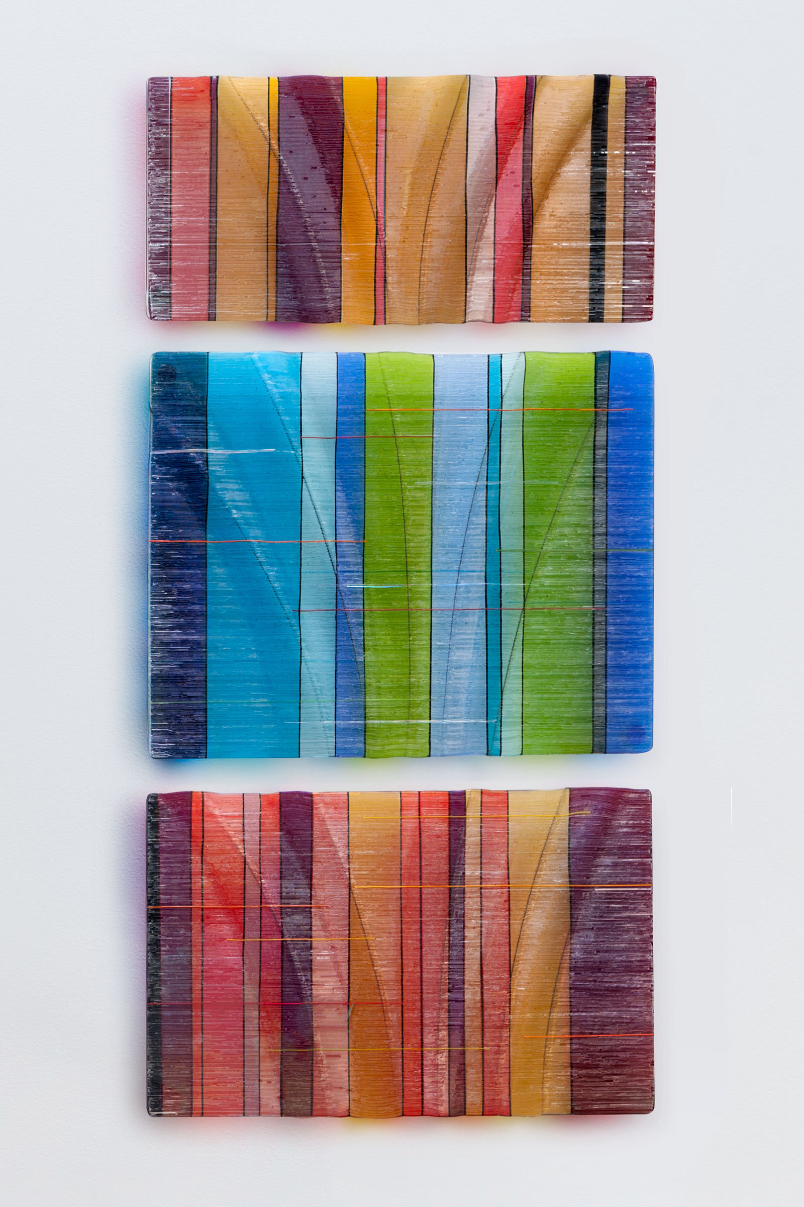 Fused Glass Wall Art By Frank Thompson. Available In Extended Sizes