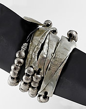 Round Bead & Rectangle Bracelet by John Siever (Silver Bracelet)