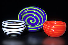 Spiral Bubble Bowl by Cristy Aloysi and Scott Graham (Art Glass Bowl)