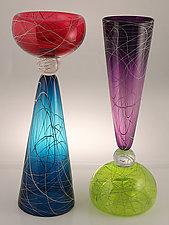 Birds Nest Double by Cristy Aloysi and Scott Graham (Art Glass Vase)