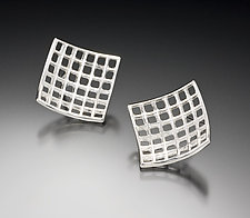 Light Mesh Post Earrings by Marie Scarpa (Sterling Silver Earrings)