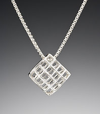 Light Mesh Pendant by Marie Scarpa (Silver Necklace)